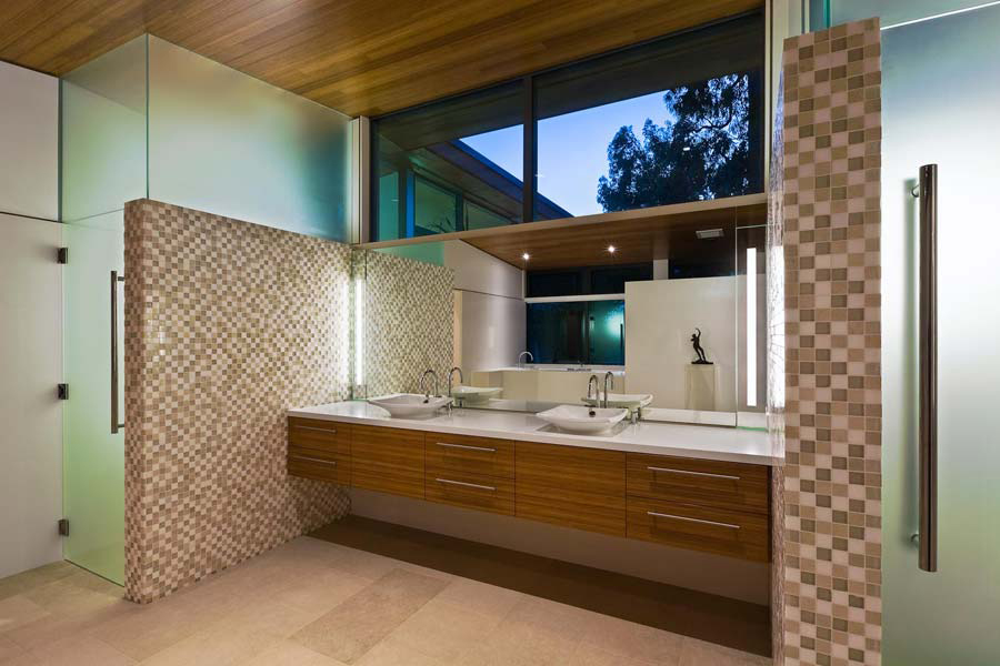 modern bathroom units mosaic tile interior design ideas