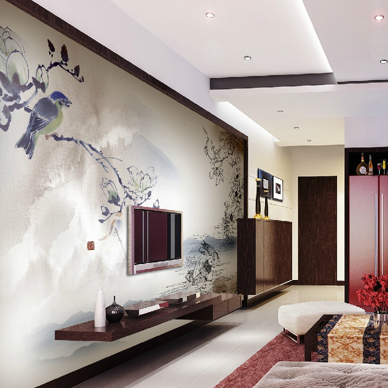 Exquisite wall coverings from china Modern living room interior design 2012