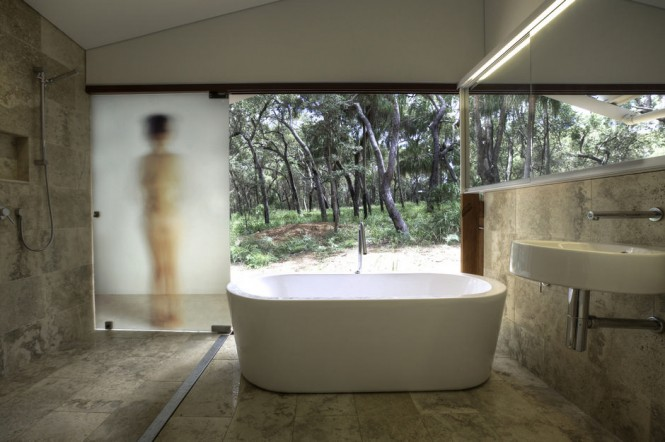 Neutral nature bathroom