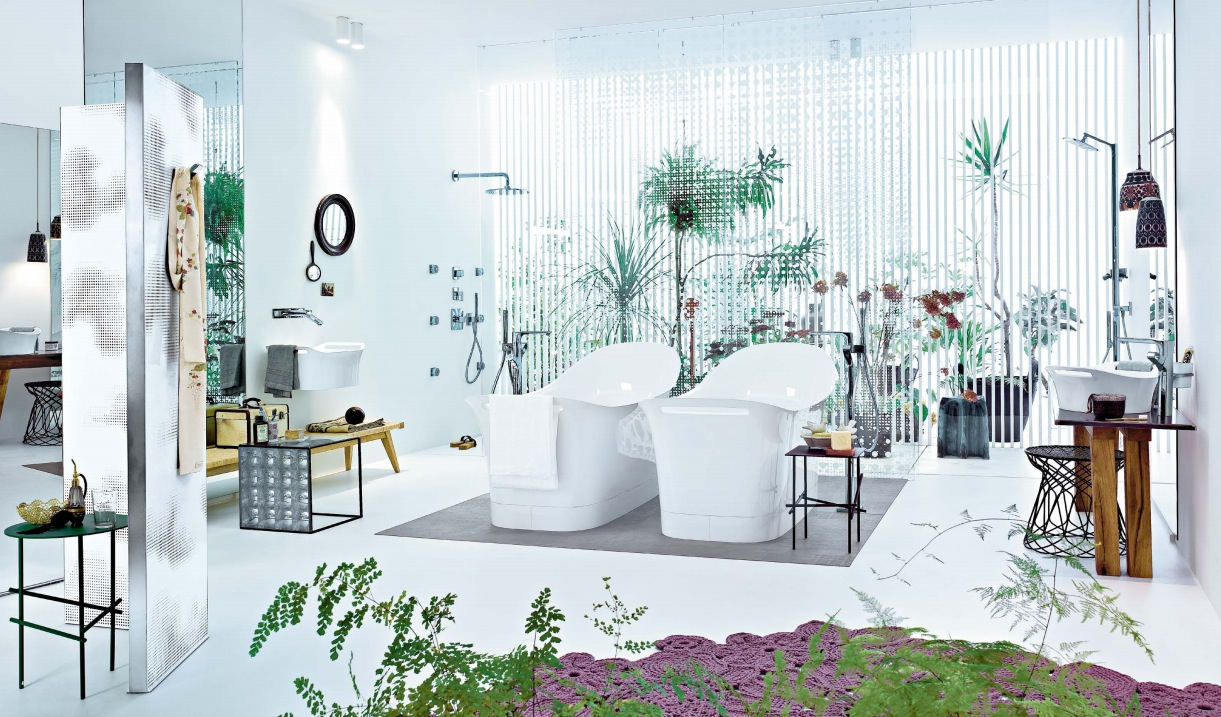 Patricia urquiola modern white bathroom design interior for Bathroom interior design white