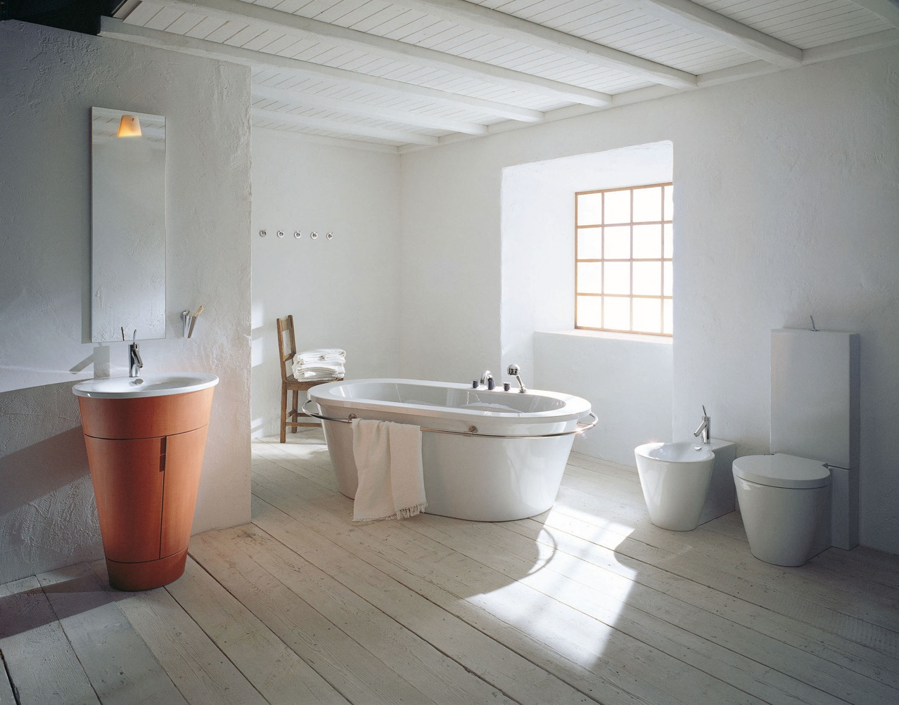 Philipe starck rustic modern bathroom decor interior for Salle de bain carrelage effet parquet