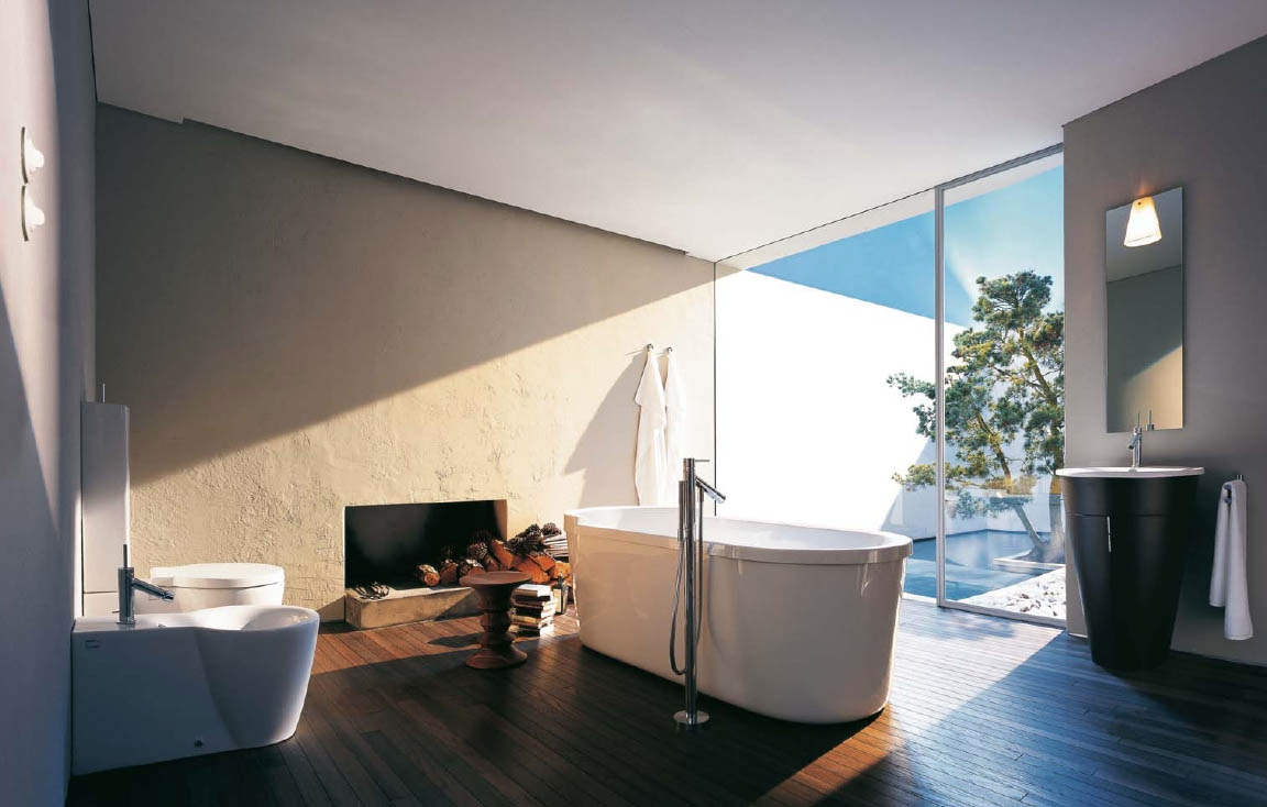 Philipe starck white modern bathroom design interior for Bathroom interior design white