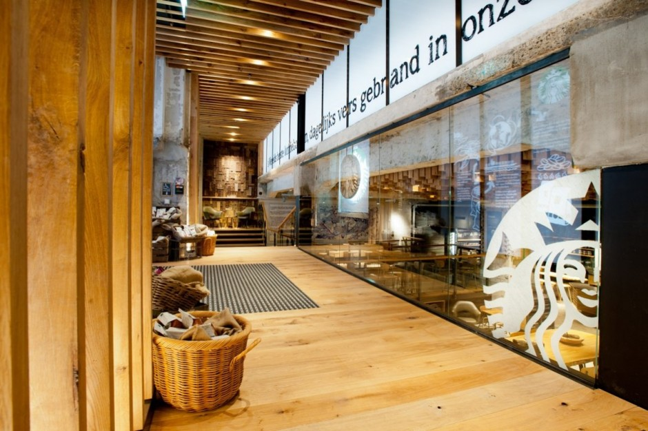 Starbucks concept store in amsterdam for Furniture bank seattle