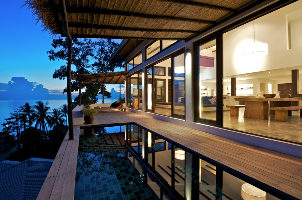 Tropical beach villa for Deck architecture