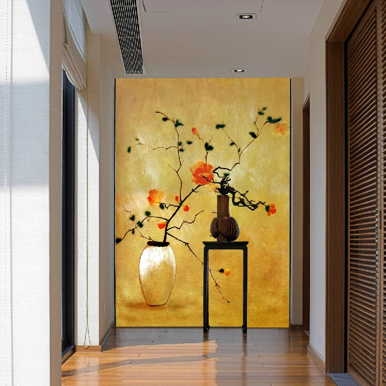 Unique hallway design interior design ideas for Drawing hall wall designs