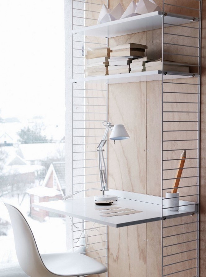 adjustable shelves white desk
