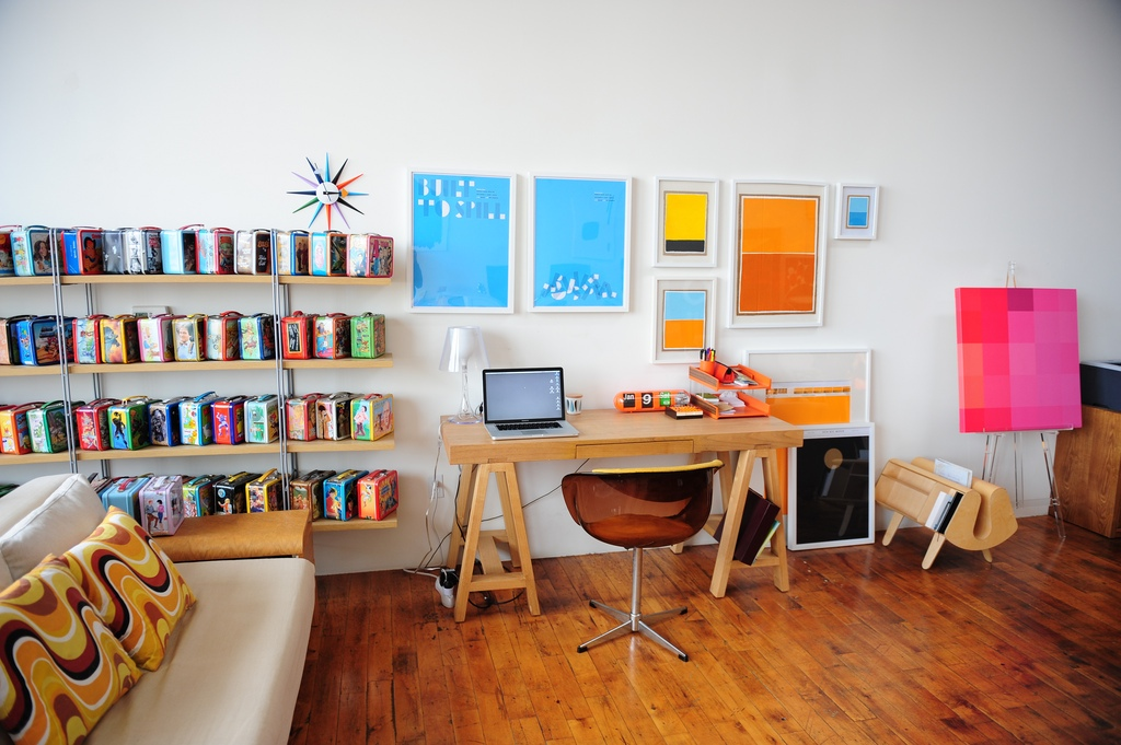 Colorful Home Office Alluring Of Colorful Office Decor Ideas Images