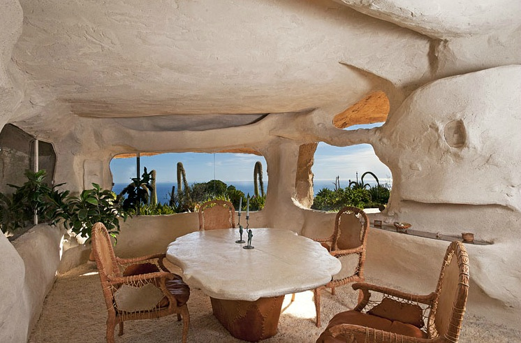 flintstones style house in malibu. Black Bedroom Furniture Sets. Home Design Ideas