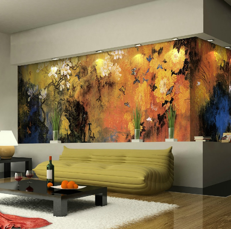 Exquisite wall coverings from china for Bedroom mural painting