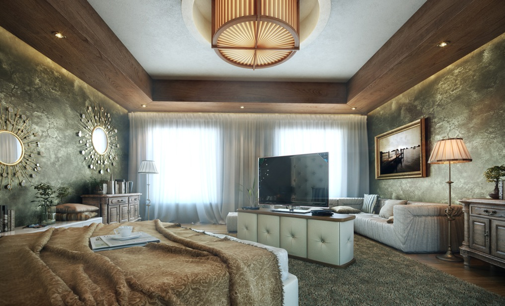Bedroom feature walls - Luxury bedroom design ...