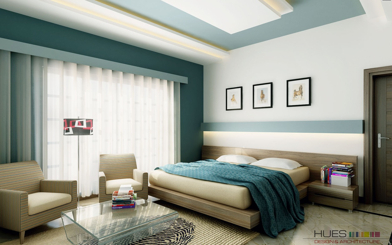 White teal bedroom platform bed interior design ideas for Bedroom ideas with teal walls