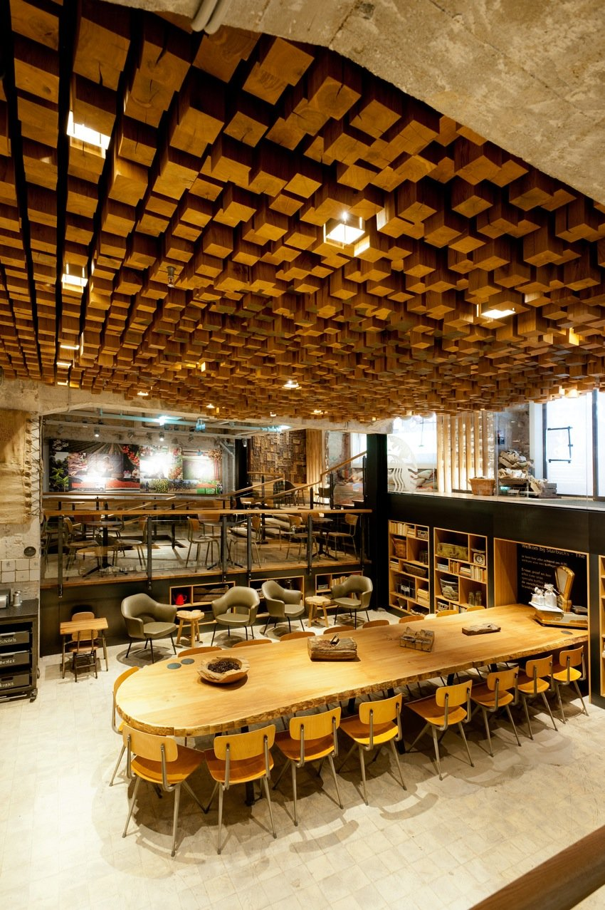 Starbucks concept store in amsterdam for Arquitectura and design