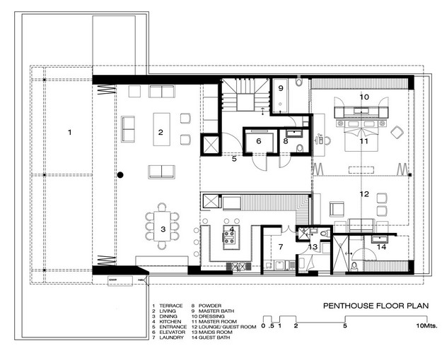 Elegant Apartment Layout Plan