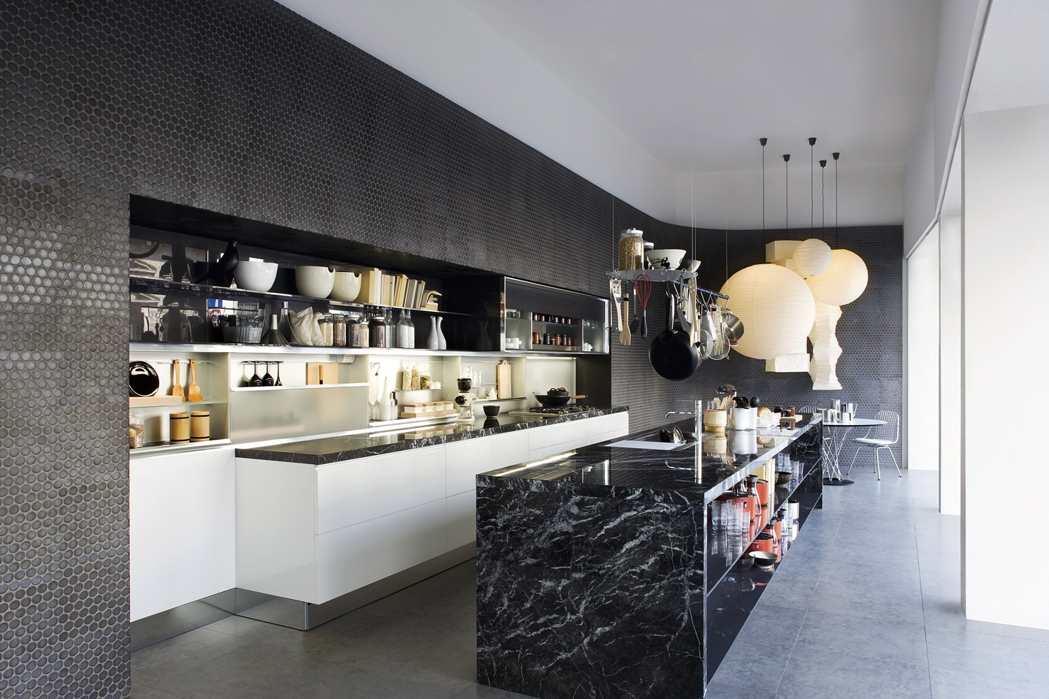 like architecture interior design follow us - Black Kitchen Island