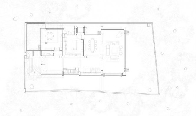 Courtyard house floor plan 02