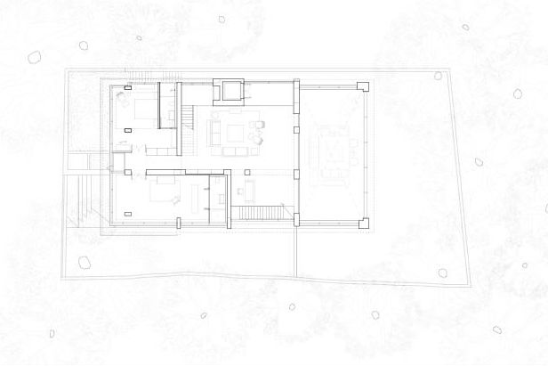 Courtyard house floor plan 03