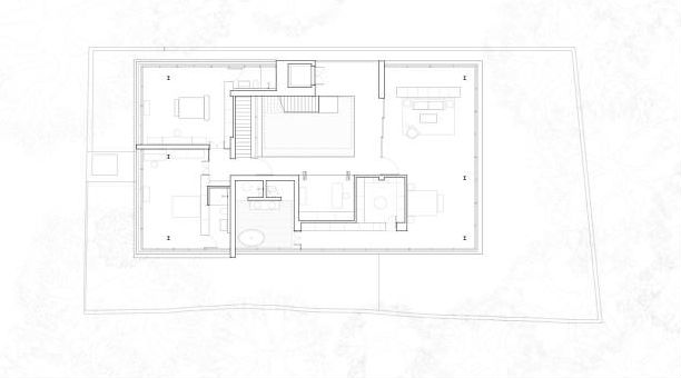 Courtyard house floor plan 04