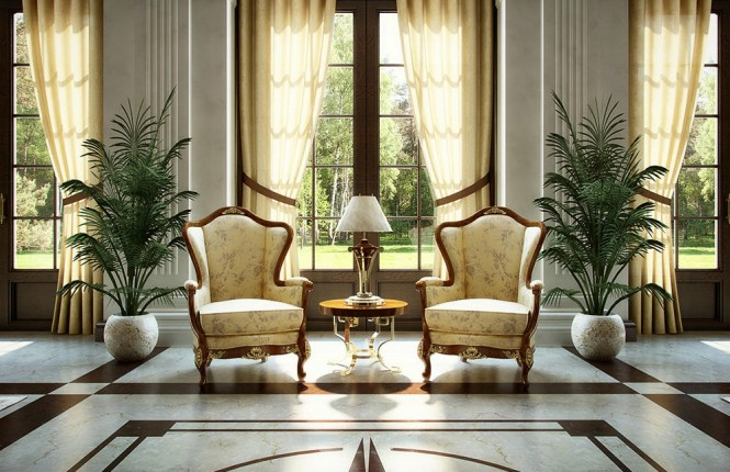 Grand room wing back chairs