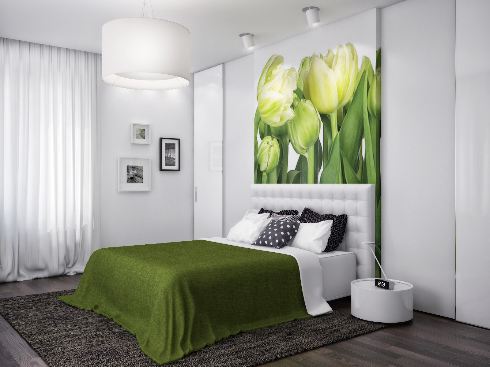 Bedroom Ideas Nature green white nature bedroom | interior design ideas.