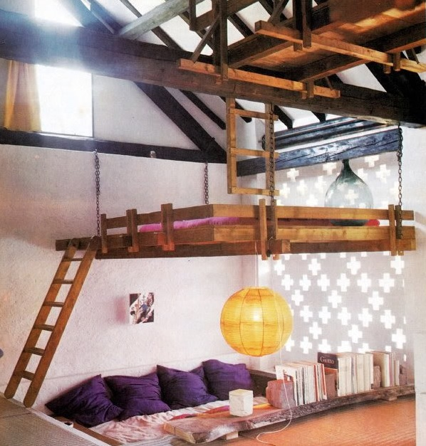 Cool beds to climb for Bunk bed bedroom designs