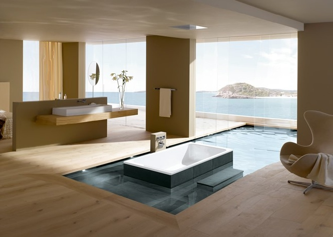 Open plan luxury ensuite bathroom