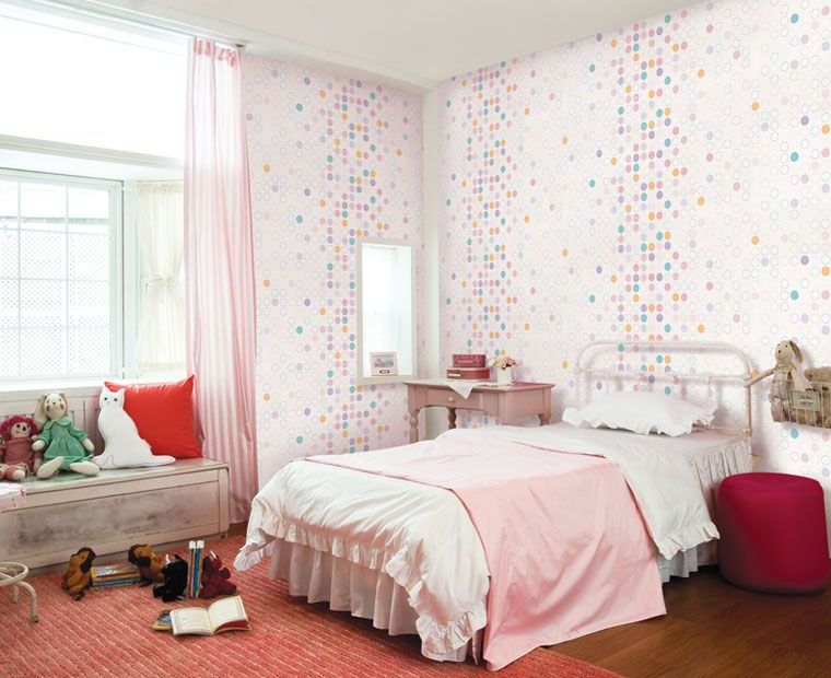 Cute quirky wallpaper for kids - Images of girls bedroom ...