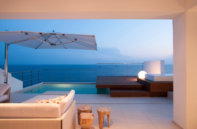 Private pool patio ocean views
