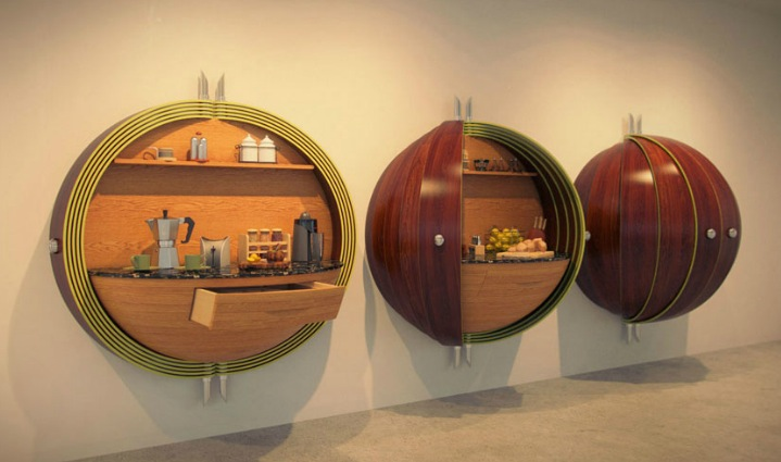 innovative kitchens curvaceous countertops ForInnovative Cabinet Design