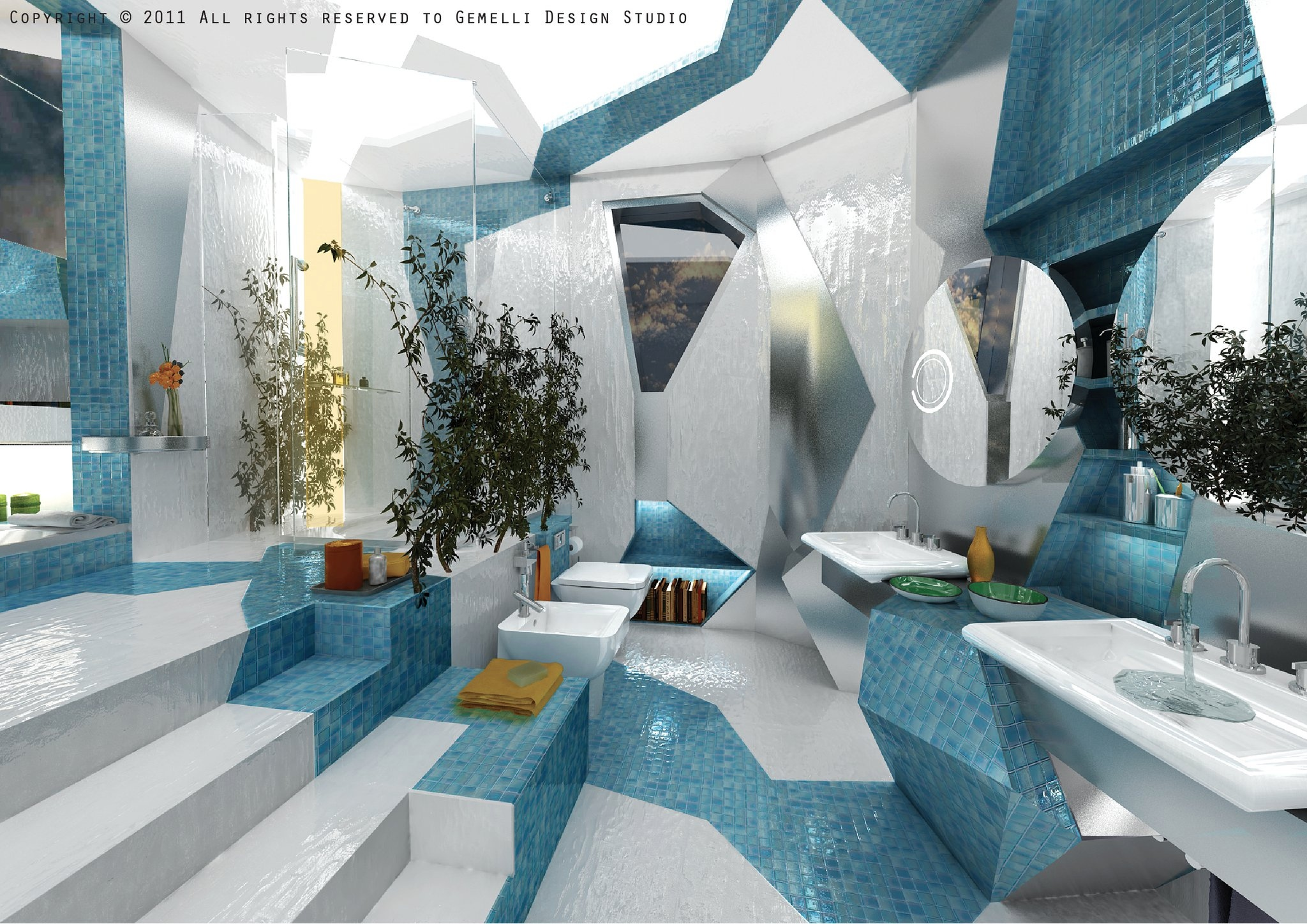 Cubism in interior design - Interior design styles bathroom ...