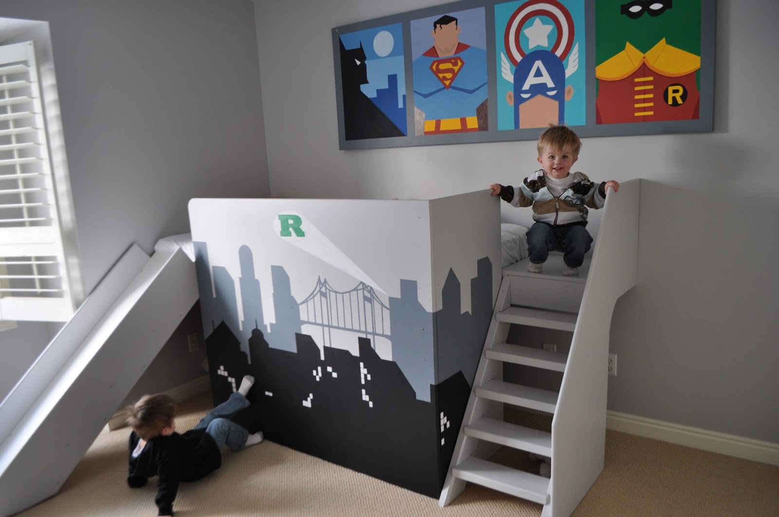 Cool beds to climb Bunk bed boys room