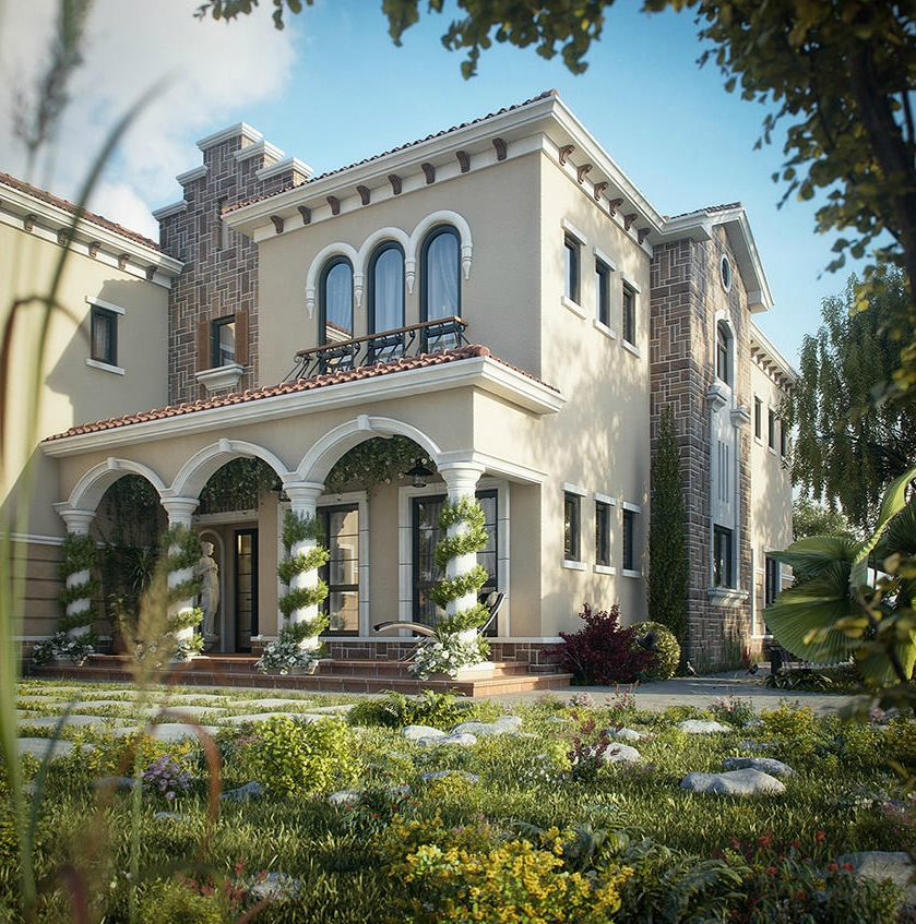 Dreamy spaces rendered by muhammad taher for Villa style homes
