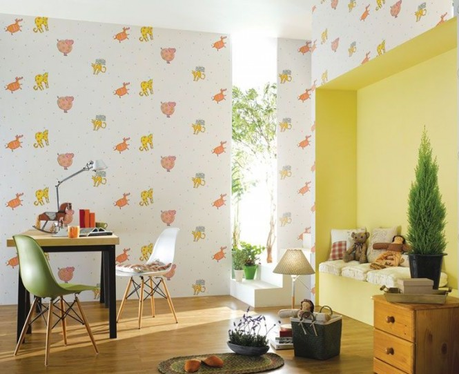 Of course, you can also ask your local home decoration store to color match paint to your child's favorite design, so that you can be confident in the knowledge that the remaining walls will perfectly match the wallpapered feature.