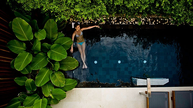 Pool suite dwellers are treated to their very own private plunge pool, accessed via a spacious living room, plus an upper level sun terrace for lazy afternoons of lounging.