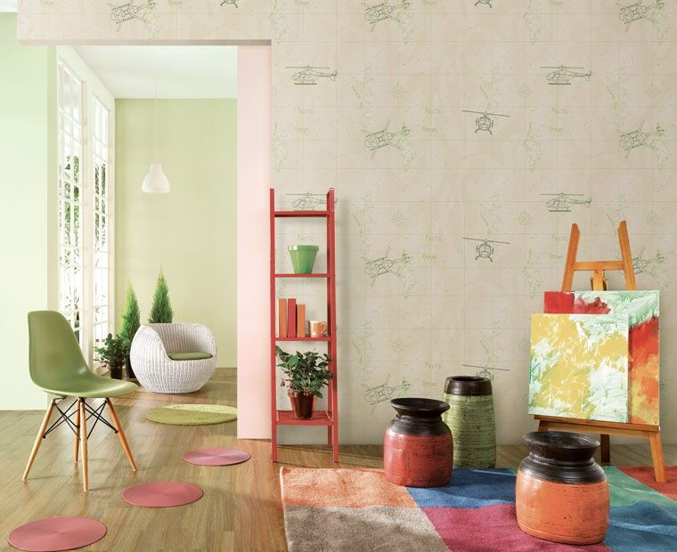 Cute & Quirky W... Kids Room Wallpaper Pattern