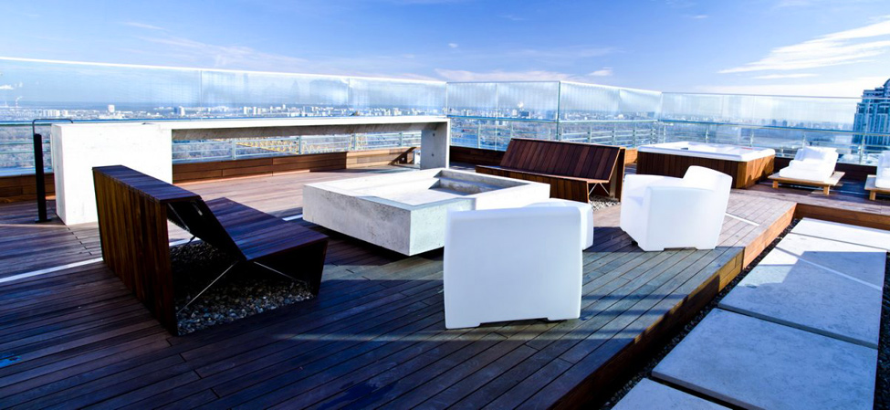 sun deck lounge area furniture interior design ideas - Rooftop Deck Design Ideas