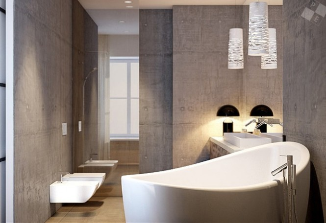 white sanitaryware grouped pendant lights