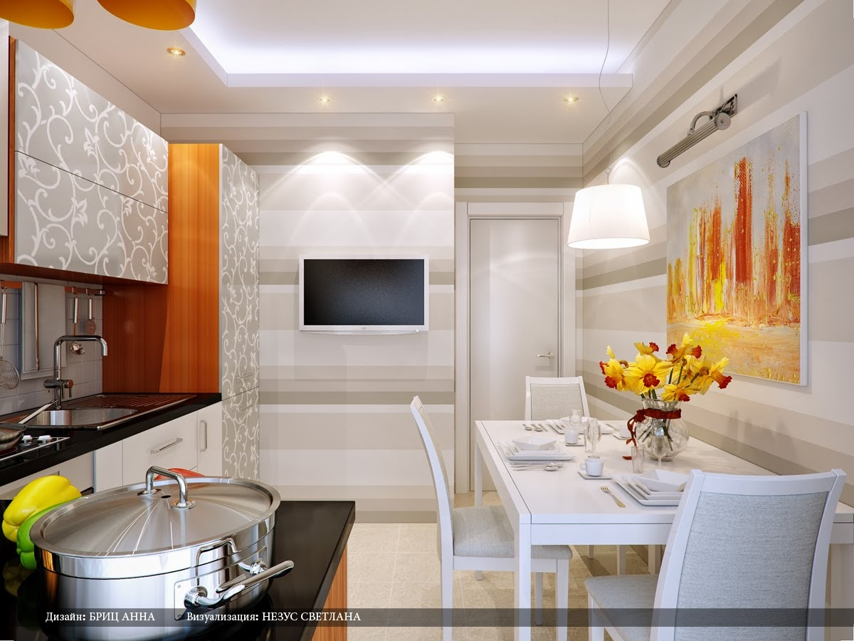 Kitchen dining designs inspiration and ideas for Orange and grey dining room