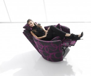 Stylish modern recliner chair