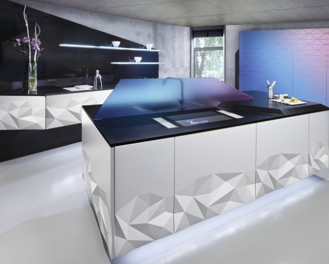 White black modern kitchen