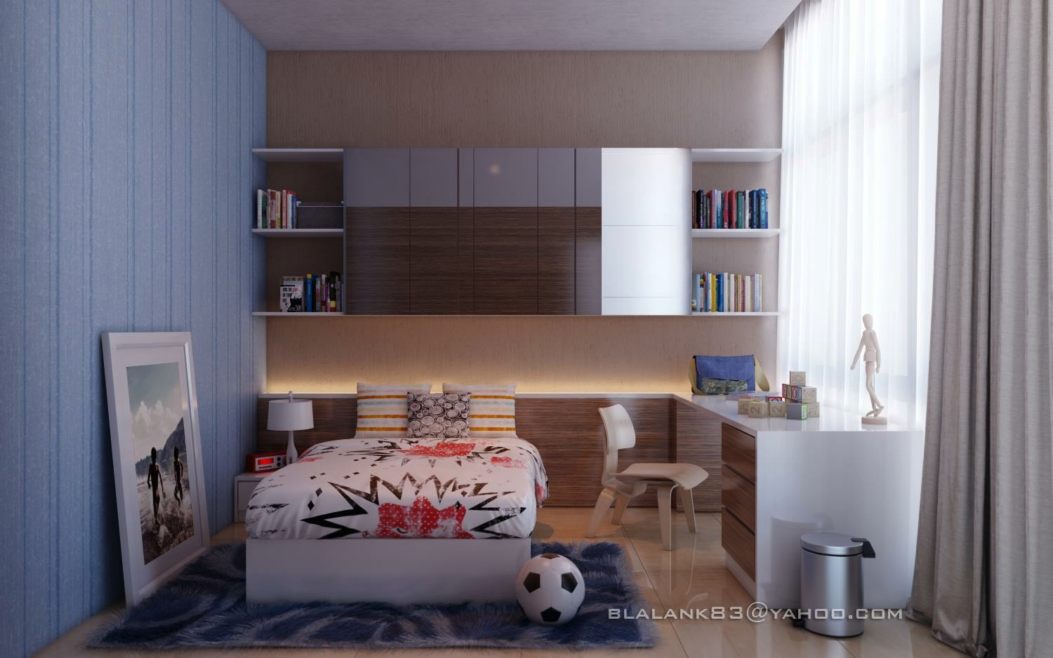 Blue Boys Rooms Brown Blue Kids Boys Room  Interior Design Ideas.