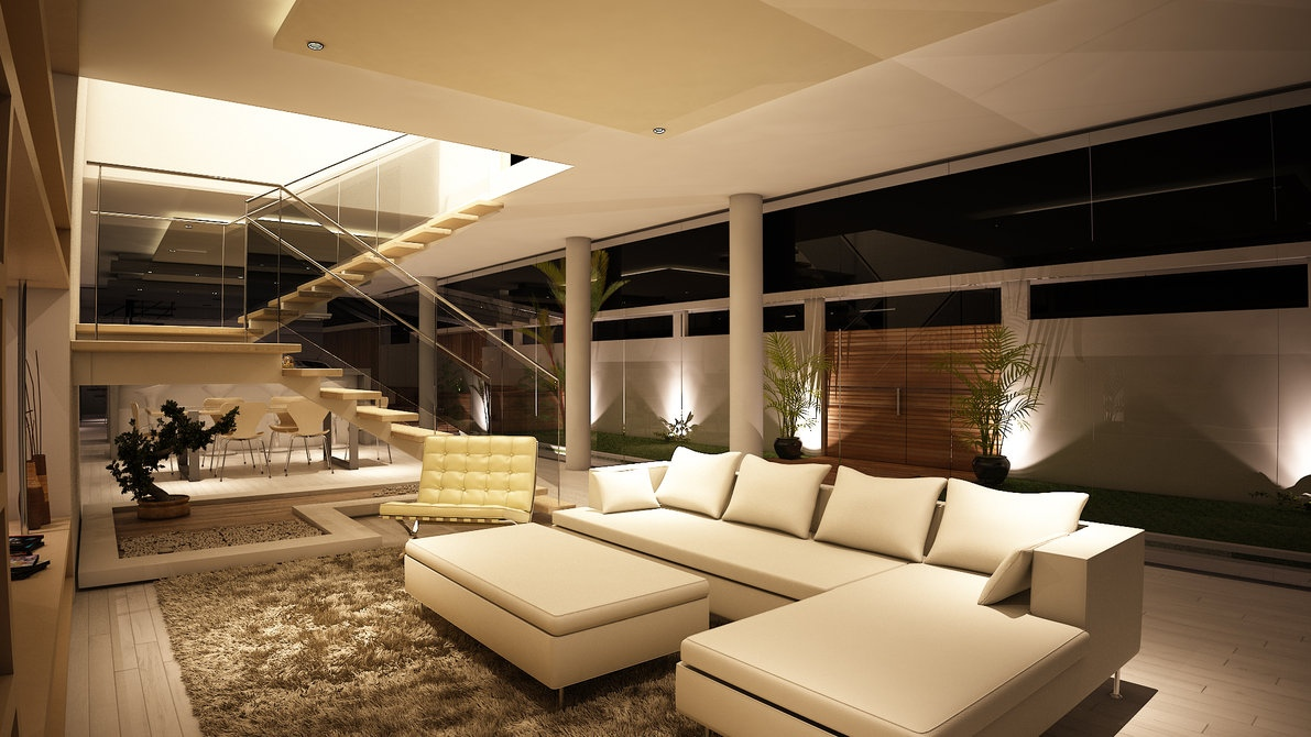 home living room designs 2.  Spacious Modern Living Trends