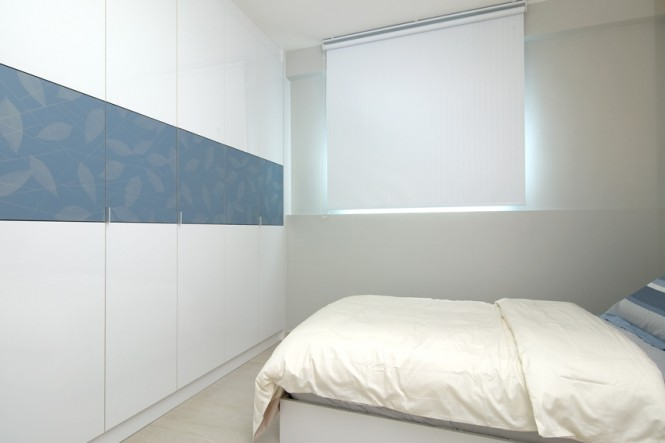 Blue white bedroom wardrobes