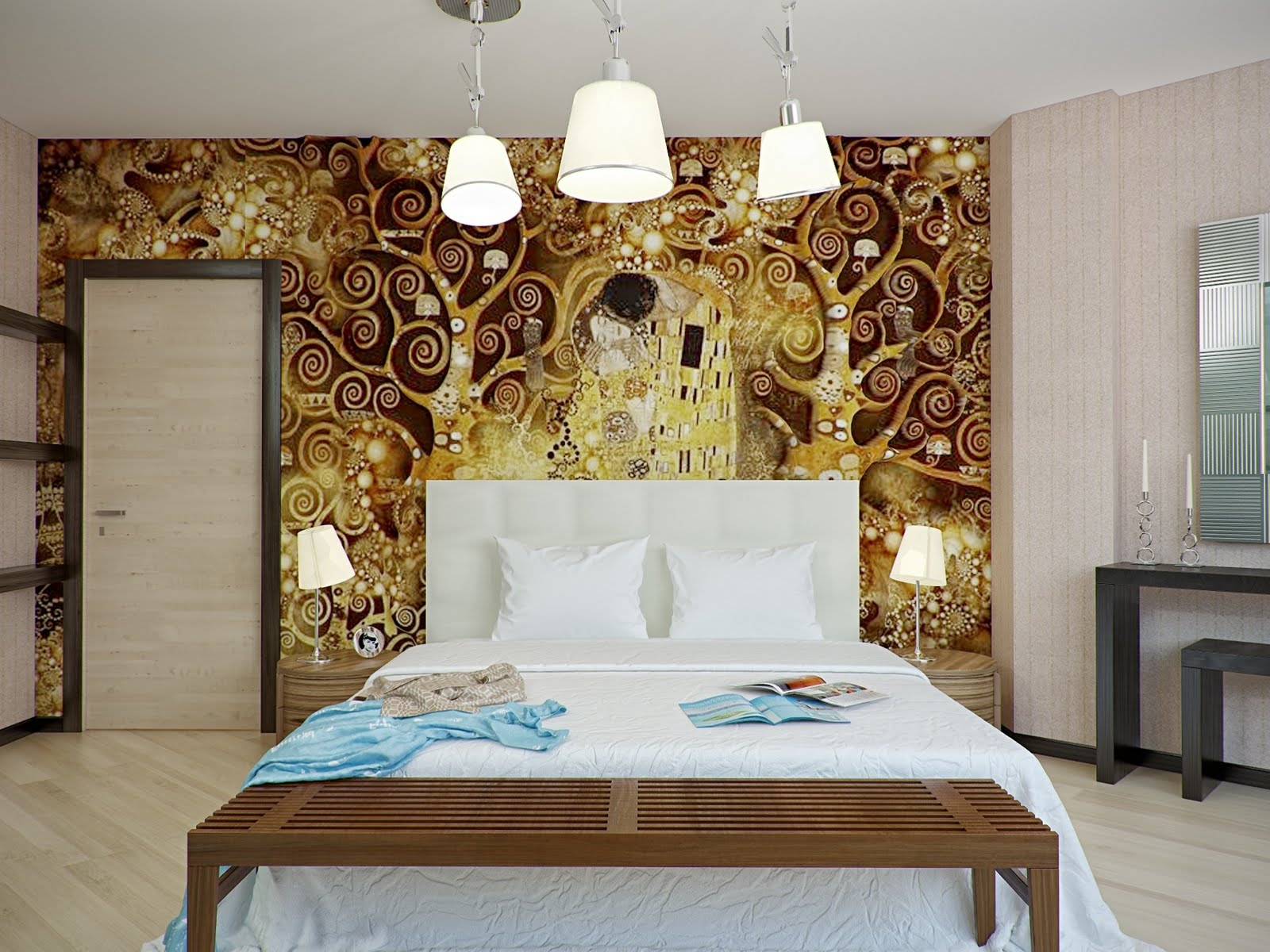 Bedroom Ideas with Gold Walls 1600 x 1200