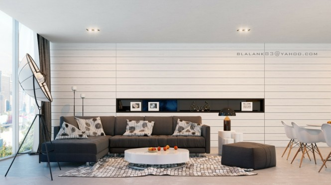 Textured and paneled walls create interest over vast wall expanses, and prevent generous dimensions from appearing too stark and gallery-like.