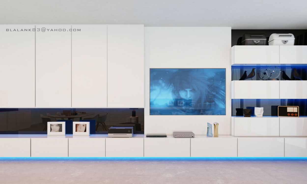 White Gloss Entertainment Unit