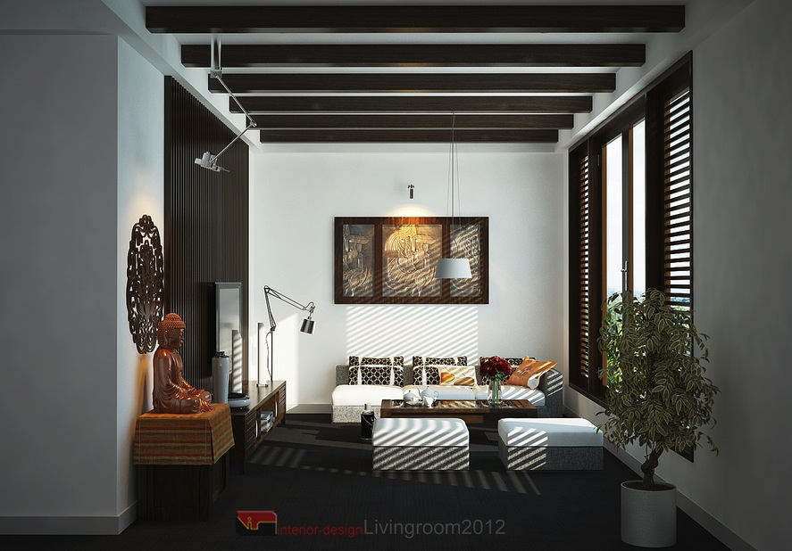 Asian inspired interiors for Asian inspired living room designs