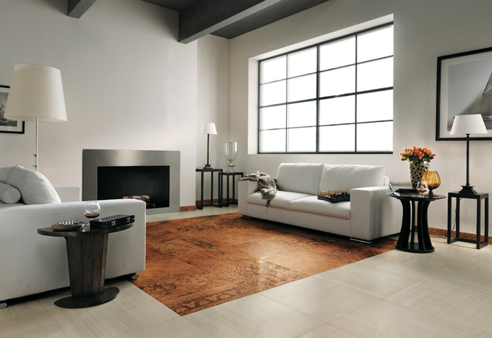 Top to toe ceramic tiles for Living room floor tiles