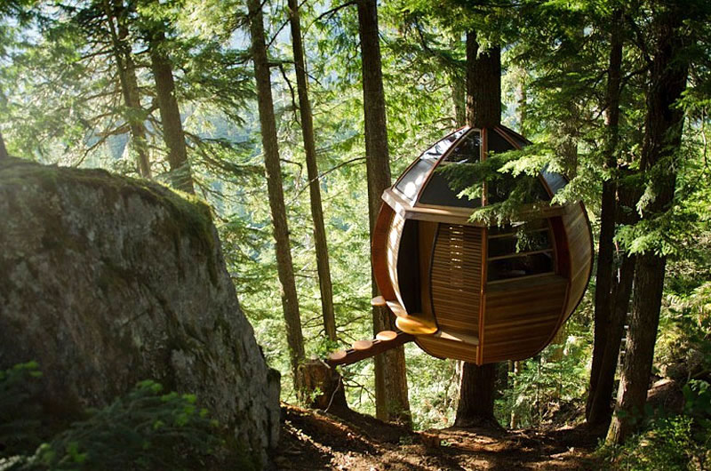 Hidden Egg Treehouse By Joel Allen on Tiny House Eureka Springs