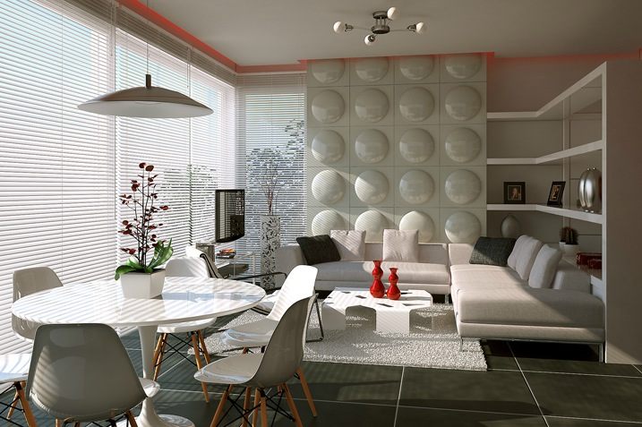 Contemporary feature wall treatment  Interior Design Ideas.