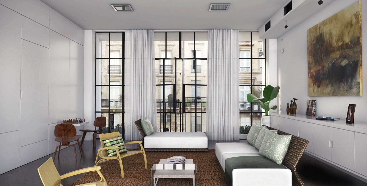 Monochromatic Living Room Decor Classically Cool Living Rooms